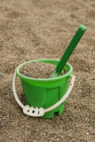 Green sand bucket Royalty Free Stock Photography