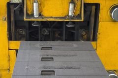 Green Sand mold in casting line Stock Image