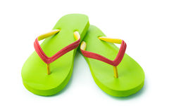 Green sandal Stock Images