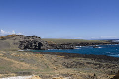 Green Sands Beach, Papakolea Royalty Free Stock Photos