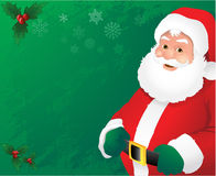 Green santa claus background Stock Photos
