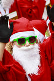 Green Santa Royalty Free Stock Images