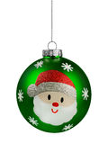 Green Santa Glitter Christmas Ball Royalty Free Stock Photos