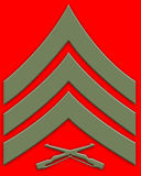 Green sargent insignia Stock Images