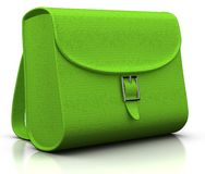 Green satchel Stock Photo