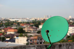 Green satellite. Royalty Free Stock Photo