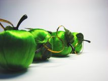 Green satin apple 10 Stock Images