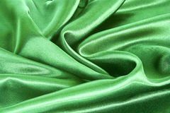 Green satin background Stock Photography