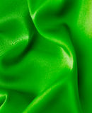 Green satin background Royalty Free Stock Photo