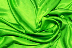 Green satin background Stock Image
