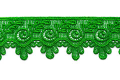 Green satin lace. Royalty Free Stock Photos