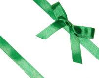 Green satin ribbon Royalty Free Stock Image