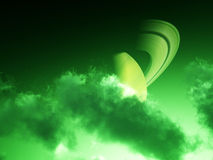 Green Saturn Clouds 3 Royalty Free Stock Image