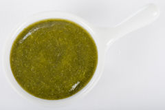 Green Sauce Dip Stock Photo