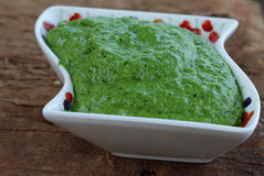 Green sauce Royalty Free Stock Photos