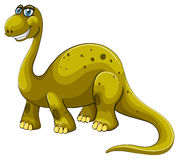 Green sauropod with happy face Stock Photos