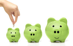 Green Saving Stock Photography