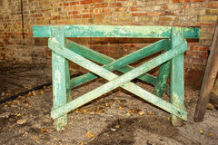 A green sawhorse Royalty Free Stock Image