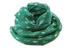 Green scarf Royalty Free Stock Photos