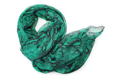 Green scarf Royalty Free Stock Photography