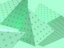 Green scene close up geometric shape levitation group 3d rendering abstract background royalty free stock images