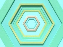 Green scene flat lay abstract geometric shape pattern 3d render background/wallpaper vector illustration