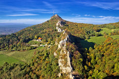 Green scenery of Kalnik mountain ridge Royalty Free Stock Images