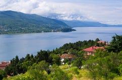 Green scenery in Ohrid, Macedonia Stock Photo
