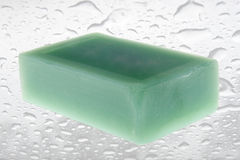 Green scented soaps Stock Photos