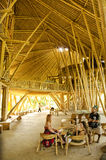 Green school bamboo interior in bali indonesia Stock Photos
