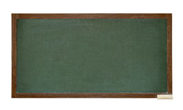 Green school blackboard cutout Stock Photos