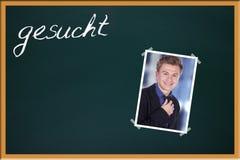 Green school blackboard Stock Images