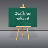 Green School Board With Chalk On A Tripod Royalty Free Stock Photography