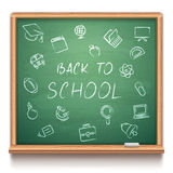 Green School Chalk Board royalty free illustration