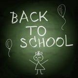 Green school chalkboard background. Back to school Stock Photos