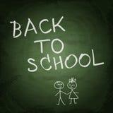 Green school chalkboard background. Back to school Stock Photography