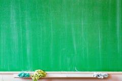 Green school chalkboard Royalty Free Stock Photo