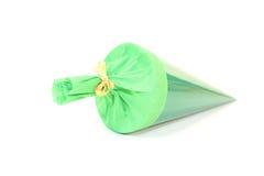 Green school cone Stock Photos