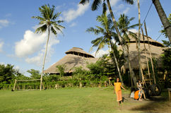 Green school exterior in bali indonesia Stock Photo