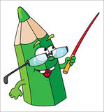 Green school pencil Stock Image
