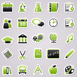 Green school stickers. Royalty Free Stock Images