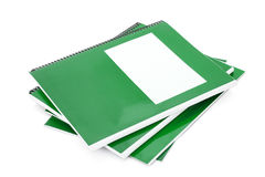 Green school textbook Stock Image