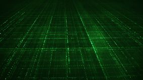 Green sci-fi grid information technology concept Royalty Free Stock Photo