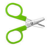 Green scissors isolated royalty free stock images