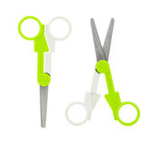 Green scissors Stock Photos