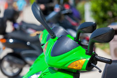 Green Scooter detail Royalty Free Stock Photos