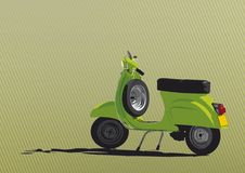 Green Scooter Illustration. Illustration of the greatest scooter ever. Easy to change colors in vector file. Just edit the global swatches Stock Illustration