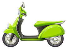 A green scooter. Illustration of a green scooter on a white background Stock Images