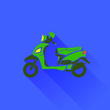 Green Scooter Silhouette Royalty Free Stock Image