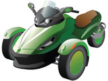 Green Scooter Tricycle Stock Image